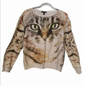 Forever 21 cat sweatshirt size M